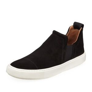 NEW Vince Lucio High Top Suede Slip On Sneakers